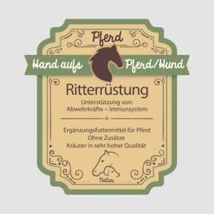 """Abwehrkräuter für Pferde """"Ritterrüstung"""""""