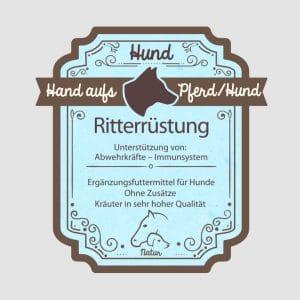 "Borreliose Kräuter für Hunde ""Ritterrüstung"""