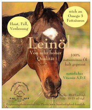 Leinöl als natürliches Heilmittel für das Pferd