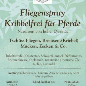 """NEU – Fliegenspray für Pferde """"Kribbelfrei"""" – NEU"""